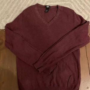 Men's h and m size x small maroon sweater cotton